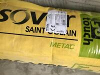2 rolls ISOVER METAC insulation mineral wool 150mm thick presplit
