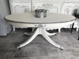 Large French style shabby chic coffee table