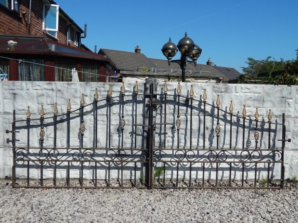 Wrought iron gates / Driveway gates / Garden gates / Metal gates / Steel  gates / Double house gates | in St Helens, Merseyside | Gumtree