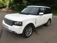 "LAND RANGE ROVER 4.4 TDV8 AUTO WHITE 20"" ALLOYS AIR COOLED SEATS FULLY LOADED LOW 58K PX SWAPS"