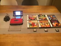 Nintendo DS Lite Handheld Console With Case, Charger and 10 Games