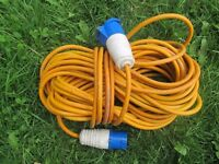 25 metre Caravan and Motorhome Mains Hook Up Site Lead