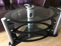 Black/Glass TV stand