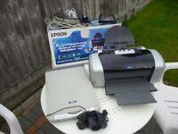 epson stylus C84 photo edition color printer & epson perfection scanner,please read more...