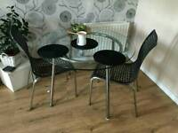 IKEA Glass table with 2 chairs