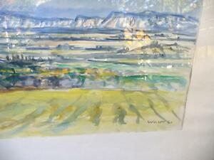 "Heinrich Waser "" Panoramic Landscape"" 1961 Original Watercolor Stratford Kitchener Area image 9"