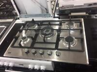 NEW-NEW* 5burner Hobs stainless steel 68-70cm warranty included call today or store collection