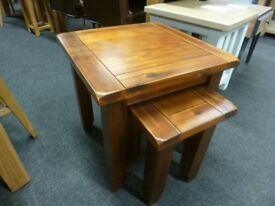 Solid Acacia Wood Nest Of Two Tables
