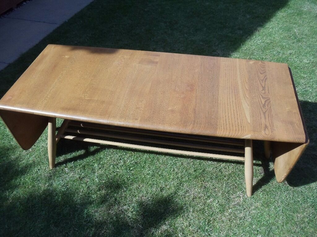 """ercol extending coffee table 