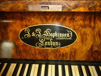Straight strung upright beautiful piano