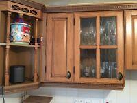 Oak country style kitchen