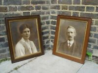 FREE DELIVERY X2 Vintage Paintings Retro Wall Pictures