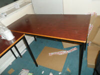 TABLES FIVE OR SIX SOLID STRONG BASE FOR KIDS COMPUTER DESK OR OFFICE CLOSING DOWN TRAFFORD PARK