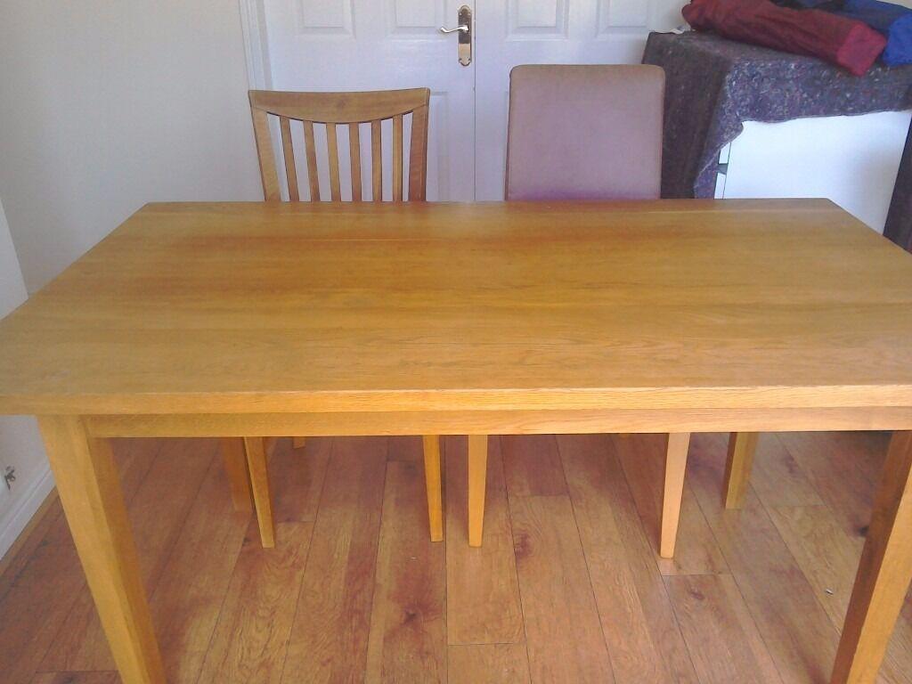 Solid oak dining table in Fareham Hampshire Gumtree : 86 from www.gumtree.com size 1024 x 768 jpeg 72kB