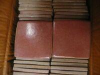 "NEW 57 ""Wobbly edge"" thick rustic ceramic tiles in terracotta 4"" x 4"" Italian"