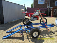 2-bike trailer in very good condition