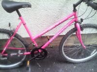 APOLLO ARIZONA LADIES MOUNTAIN BIKE,19 INCH FRAME,26 INCH WHEELS,18 GEARS,GOOD CONDITION.