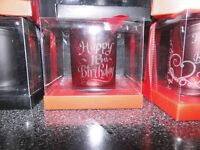 joblot lasered engraved candle holdes with candle