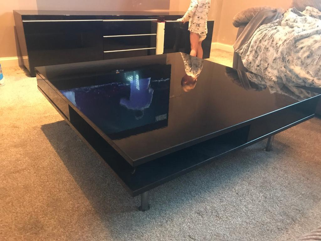 Ikea Tofteryd Black Gloss Coffee Table In Killingworth Tyne And  # Tofteryd Meuble Tv