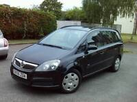 2006 BLACK VAUXHALL ZAFIRA 7 SEATER LOW MILES CLEAN ALL ROUND