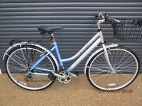 "LADIES FALCON LIGHTWEIGHT ALUMINIUN TOWN / SHOPPING BIKE IN EXCELLENT CONDITION..(18"" / 46cm. FRAME)"