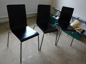 Wooden Chairs Set of 3 Retro Collectable Vintage 60's Early 70's Originals