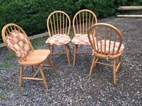 4 Ikea wooden dining chairs £30