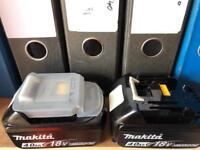 Makita batteries (ONE ONLY) 4AH