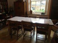 Vintage Refectory / Schoolhouse Metal Top Table