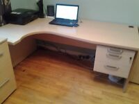 Office Suite including Desk, Cupboards, Filing Cabinet, Cupboard, Table all in Excellent Condition