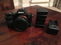 Sony A7s with EF adapter and 5 Batteries.