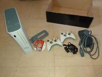 Xbox 360 2 controllers hard drive game