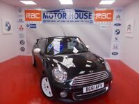 MINI Convertible COOPER(AUTOMATIC) FREE MOT'S AS LONG AS YOU OWN THE CAR!!! (black) 2011
