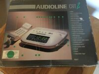 VINTAGE Audioline CRT 2 Clock Radio Tone / Pulse Telephone