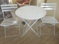 Metallic table and chair set for patio/ garden £50