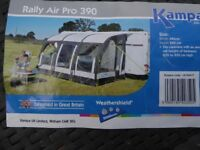 Kampa Rally air pro 390 hardly Used in Very Good Condition