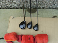 KING COBRA RIGHT HAND GRAPHITE DRIVERS 1,3,5, WITH HEAD COVERS