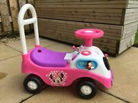 Girls push-along car