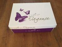 Lunar Elegance size 5/38 navy blue sparkly high heeled shoes. 2inch heel.In original box/wrap.