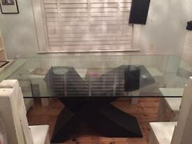 Glass table £35