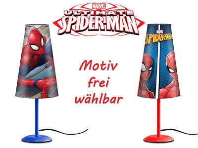 Spiderman Nachttischlampe (konisch) 2 Motive Superheld Marvel Leuchte Lampe NEU
