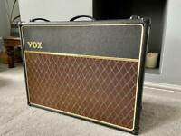 Vox AC30 Cc2x with Blue Alnico speakers guitar valve amplifier Amp with custom cover