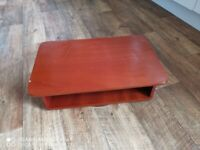 Small Wooden TV Stand - with swivel base