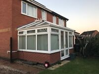Fully dismantled conservatory, excellent condition, ready for collection from Syston. Size 3100x4020