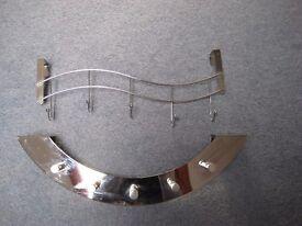 stainless steel over door hooks x2