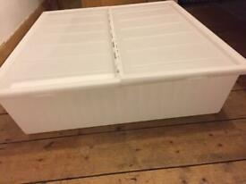 Under bed storage containers x2