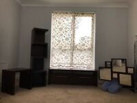 """""""NEXT"""" Living Room Furniture (Brown Wood) TV Cabinet, Block Shelves, Mirror and Side Table"""