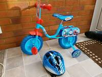 """First bike 10"""" Thomas and friends with helmet"""