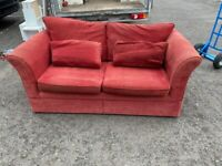20£-including delivery, 2 seater red fabric sofa
