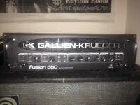 Gallien-Krueger Fusion 550 bass amp.